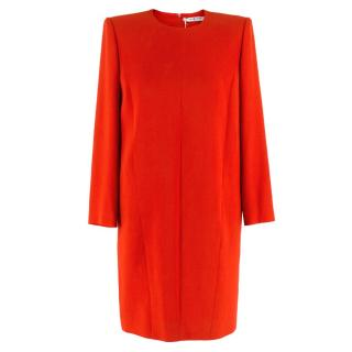 Givenchy Red Boxy Shift Dress