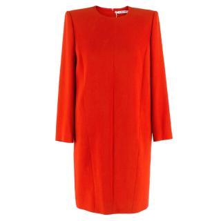 Givenchy Red Boxy Shift Dress