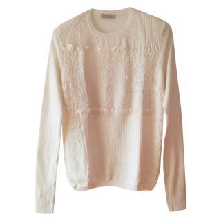 Nina Ricci smocked front sweater