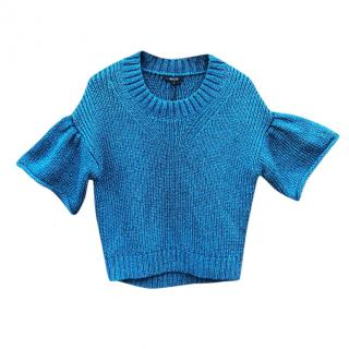 Raoul Blue Short Sleeve Knit Top
