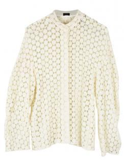 Joseph floral lace sheer blouse