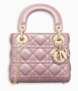 Dior Lotus Pearly Lambskin Mini Lady Dior Bag