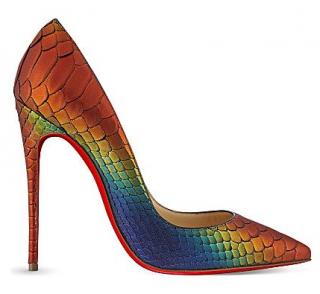 Christian Louboutin So Kate 120 Python Rainbow Pumps
