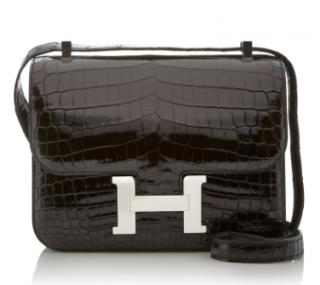 Hermes Shiny Crocodile 24cm Constance Bag