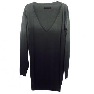 Stella Mcartney Ombre Grey Virgin Wool Sweater Dress