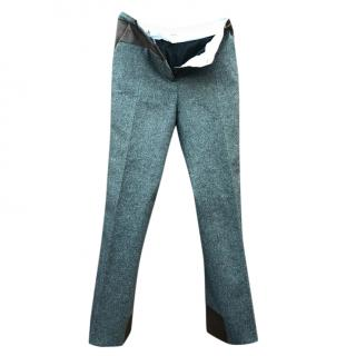 Celine wool patchwork trousers