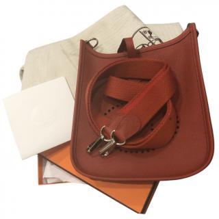 Hermes Rouge Grenat Epsom Leather Evelyne III PM