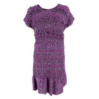 Isabel Marant Silk Gathered Floral Dress