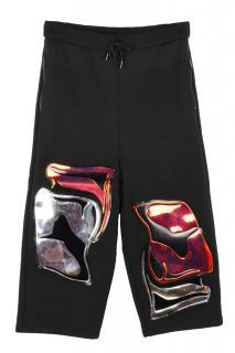 Christopher Kane big smash three-quarter black sweatpants