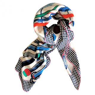 Hermes boxed cashmere & silk scarf