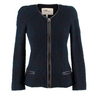 Isabel Marant Etoile Navy Boucle Knit Jacket