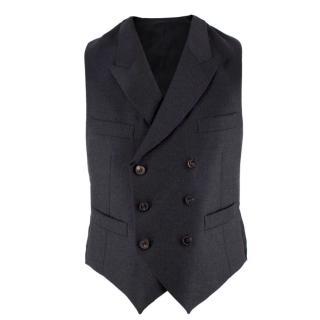 Lanvin Charcoal Wool Waistcoat
