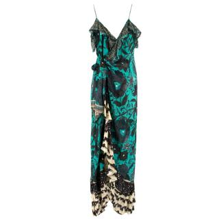 Camilla Green Floral Embellished Maxi Dress