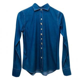 Franck Namani Blue Shirt