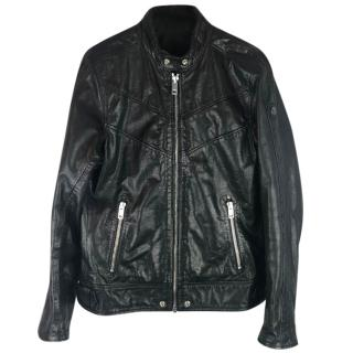 Diesel Superior L-Reed Buffalo Leather Biker Jacket