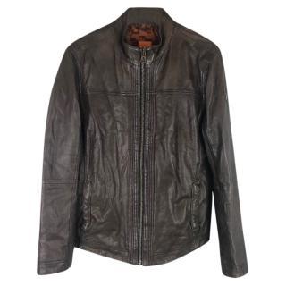 Hugo Boss Boss Orange Jips 5 Leather Biker Jacket