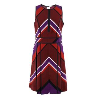 Sportmax Code Arrow Patterned A-line Dress