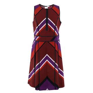 Sportmax Code Arrow Patterned A-line Dress
