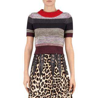 Bottega Veneta Striped Knit Crochet Sweater