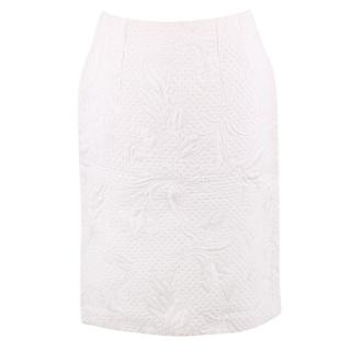 Aquascutum White Embroidered Padded Skirt