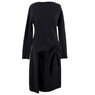 Lanvin Black Ruched Shift Dress