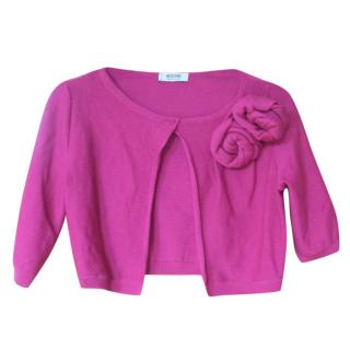 Moschino cheap and chic Pink Cropped Wool Cardigan