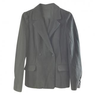 Lanvin wool/metal/silk jacket.