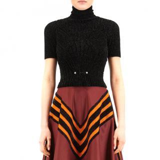 Bottega Veneta Black Chenille Knit Top