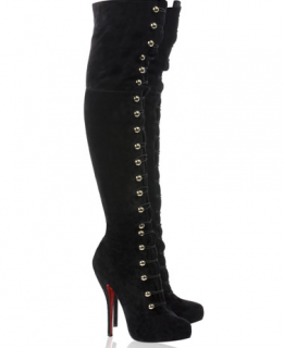Christian Louboutin Alta Fifre Suede Knee High Boots