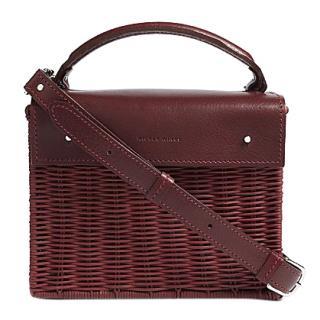 Wicker Wings Kuai Burgundy Wicker Bag