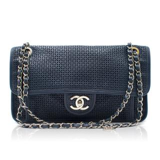 Chanel Blue Up In The Air Perforated Bag