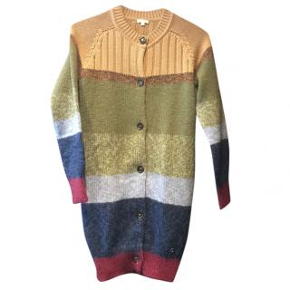 Gucci Girls Metallic Knit Striped Longline cardigan