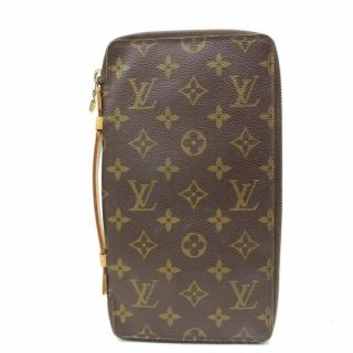 Louis Vuitton Vintage Brown Monogram Zippy Wallet Organiser