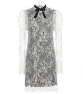 Philosophy di Lorenzo Serafini White Lace Cocktail Dress