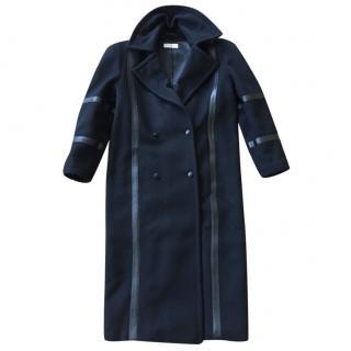 Genny Wool Leather Trim