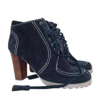 See By Chloe suede leather booties