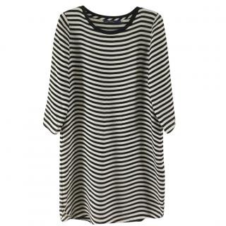 Polo ralph lauren black & white striped dress