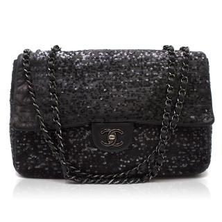 Chanel Black Sequin Flap Bag