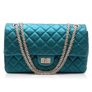 Chanel Metallic Blue Large 2.55 Handbag