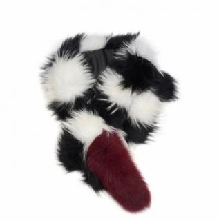 Charlotte Simone Racoon & Fox fur popsicle scarf