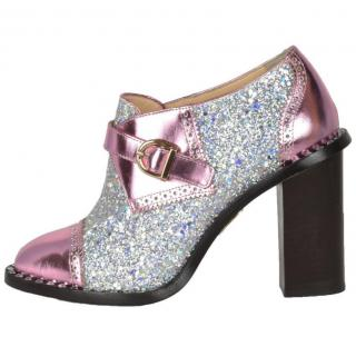 Charlotte Olympia glitter embellished buckle shoes