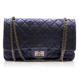 Chanel Metallic Midnight Blue Large 2.55 Handbag