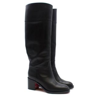 Christian Louboutin Knee-high Leather 65cm Heel Boots