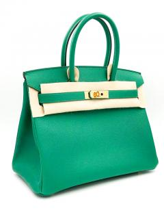 Hermes Vert Vertigo Epsom Leather 30cm Birkin Bag