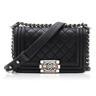 Chanel Grained Calfskin Leather Small Boy Bag
