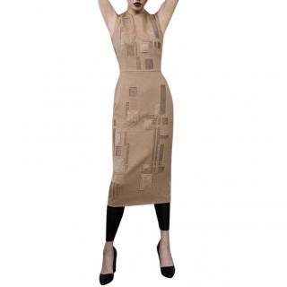 MaxMara x Liu Wie 'Monopolis' Wool Jacquard Dress