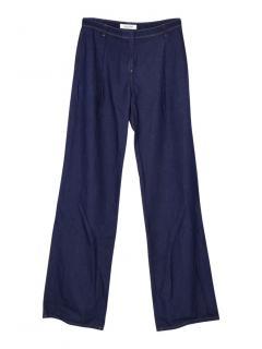 Valentino wide leg denim trousers