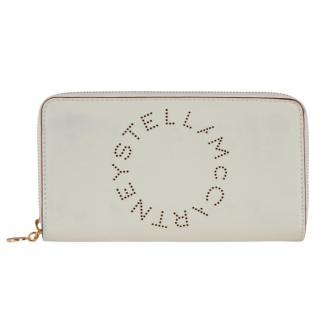 Stella McCartney Faux Leather Logo Zip Around Wallet Purse