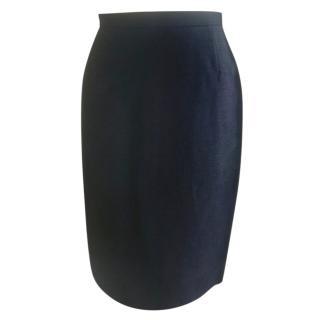 Prada Black Woven Skirt