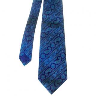 Yves Saint Laurent Paisley Silk Neck Tie